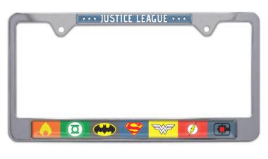 Justice League Color Chrome License Plate Frame image