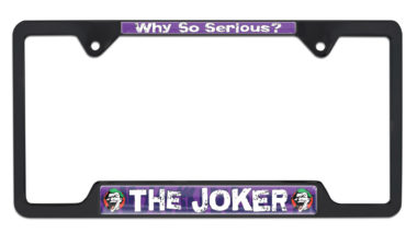 Joker Open Black License Plate Frame image