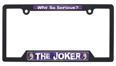 Joker Black Plastic Open License Plate Frame image