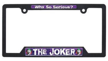 Joker Black Plastic Open License Plate Frame