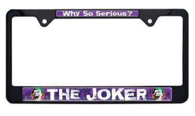 Joker Black License Plate Frame