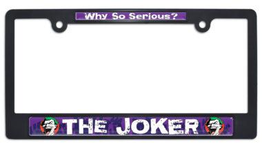 Joker Black Plastic License Plate Frame