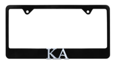 KA Black License Plate Frame