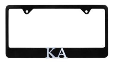 KA Black License Plate Frame