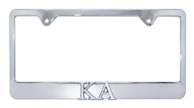 KA Chrome License Plate Frame
