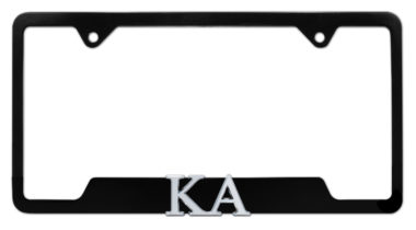 KA Fraternity Black Open License Plate Frame