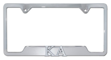KA Fraternity Chrome Open License Plate Frame