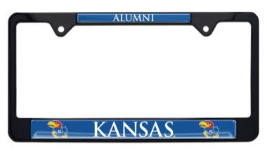 University of Kansas Alumni Black License Plate Frame