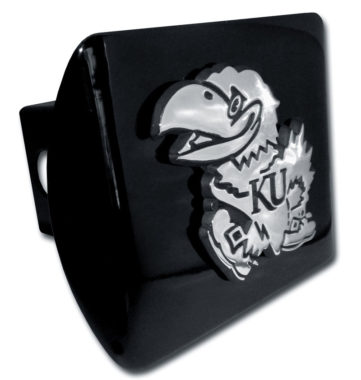 University of Kansas Emblem on Black Hitch Cover