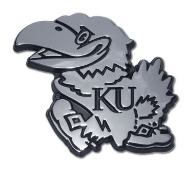 University of Kansas Chrome Emblem