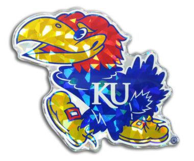 University of Kansas Color 3D Reflective Decal image