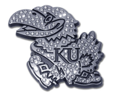University of Kansas Crystal Chrome Emblem