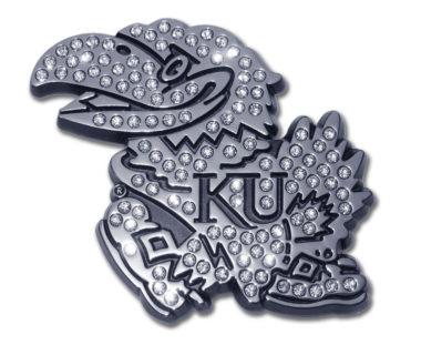 University of Kansas Crystal Chrome Emblem