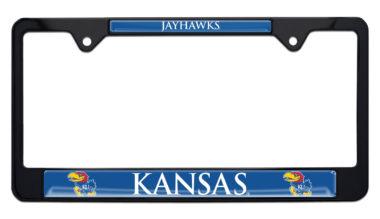 University of Kansas Jayhawks Black License Plate Frame