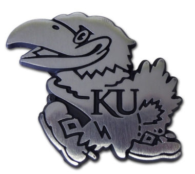 University of Kansas Matte Chrome Emblem