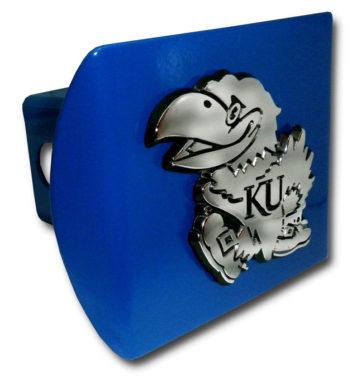 University of Kansas Emblem on Blue Hitch Cover