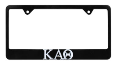 Kappa Alpha Theta Black License Plate Frame