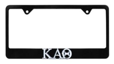 Kappa Alpha Theta Black License Plate Frame