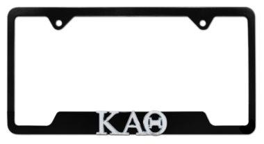 Kappa Alpha Theta Sorority Black Open License Plate Frame