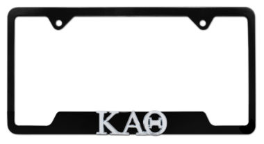 Kappa Alpha Theta Sorority Black Open License Plate Frame image