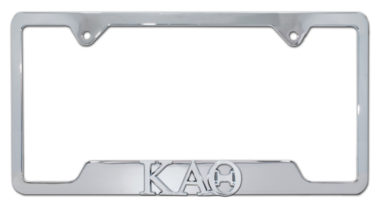 Kappa Alpha Theta Sorority Chrome Open License Plate Frame image