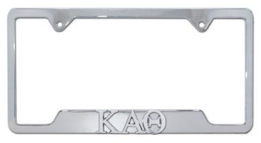 Kappa Alpha Theta Sorority Chrome Open License Plate Frame