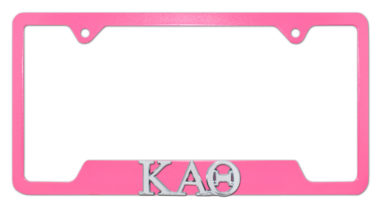 Kappa Alpha Theta Sorority Pink Open License Plate Frame