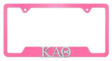 Kappa Alpha Theta Sorority Pink Open License Plate Frame