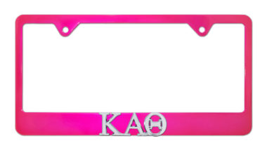 Kappa Alpha Theta Pink License Plate Frame