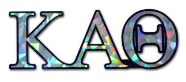 Kappa Alpha Theta Reflective Decal  image