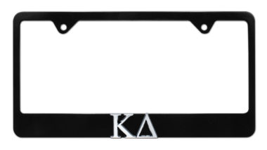 Kappa Delta Black License Plate Frame