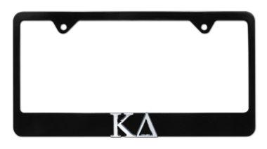 Kappa Delta Black License Plate Frame image