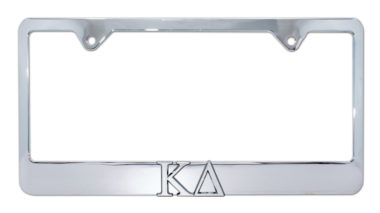 Kappa Delta Chrome License Plate Frame