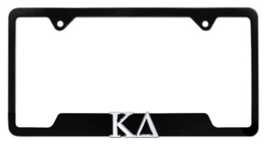 Kappa Delta Sorority Black Open License Plate Frame