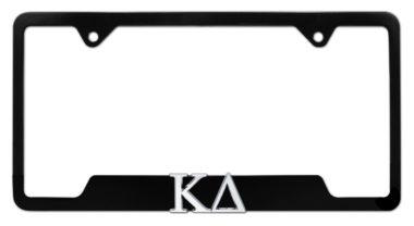 Kappa Delta Sorority Black Open License Plate Frame