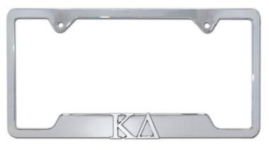 Kappa Delta Sorority Chrome Open License Plate Frame
