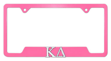 Kappa Delta Sorority Pink Open License Plate Frame