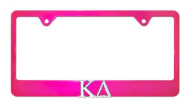 Kappa Delta Pink License Plate Frame