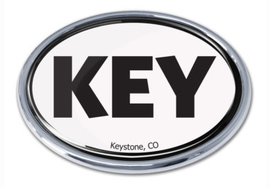 Keystone White Chrome Emblem