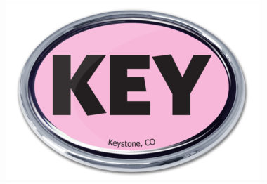 Keystone Pink Chrome Emblem