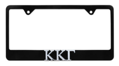 Kappa Kappa Gamma Black License Plate Frame