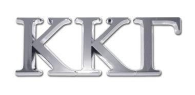 Kappa Kappa Gamma Chrome Emblem