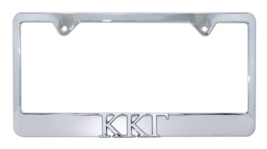 Kappa Kappa Gamma Chrome License Plate Frame