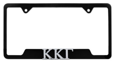 Kappa Kappa Gamma Sorority Black Open License Plate Frame