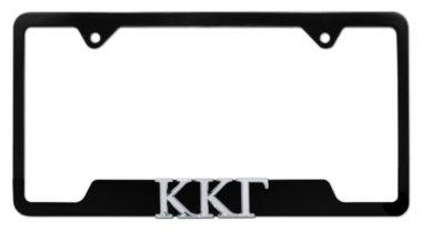 Kappa Kappa Gamma Sorority Black Open License Plate Frame