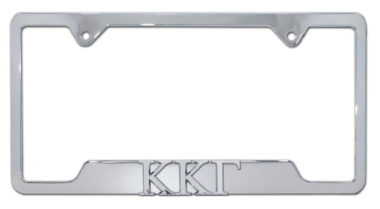 Kappa Kappa Gamma Sorority Chrome Open License Plate Frame