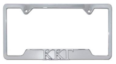 Kappa Kappa Gamma Sorority Chrome Open License Plate Frame