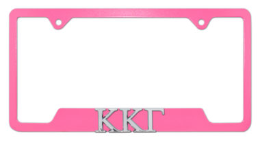 Kappa Kappa Gamma Sorority Pink Open License Plate Frame