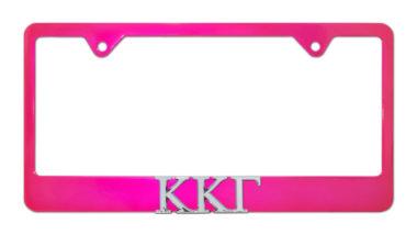 Kappa Kappa Gamma Pink License Plate Frame