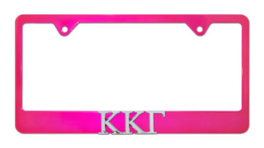 Kappa Kappa Gamma Pink License Plate Frame image